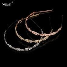 Womens Fashion Crystal Rhinestone Flower Leaf Tiara Hair Band Headband 1659