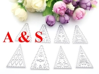 Y106 METAL CUTTING DIES Christmas Tree Scrapbook Card Invitation Paper Craft Party Decor Embossing Stencil Cutter