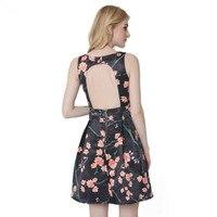 Summer Sundresses For Women African Print Dresses Short Dress Sleeveless Floral Print Dresses For Girls Boho