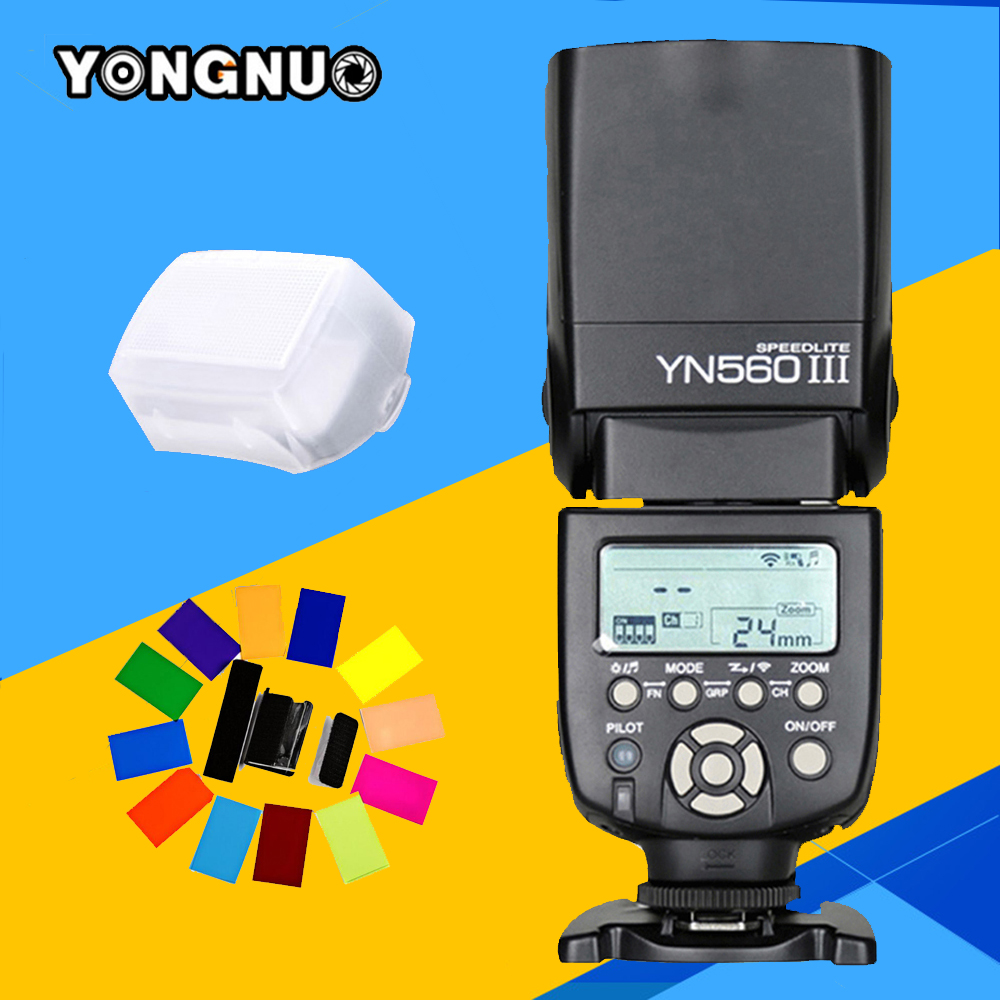 Yongnuo YN560 III Speedlite Wireless Flash YN560-III For Canon Nikon Pentax Panasonic Olympus DSLR Camera YN560III  Flashlight yongnuo yn 510ex yn510ex off camera wireless ttl flash speedlite for canon nikon pentax olympus pana sonic dslr cameras