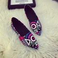 Women Pointed Toe Flats 2016 Casual Shoes Female Graffiti Ballet Flats Mujer Zapatos Footwear for Woman