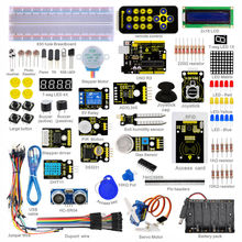 New Packing! Keyestudio Super Starter kit / Learning Kit (UNO R3) kanggo arduino Starter kit karo 32 Projects + 1602 LCD RFID + PDF