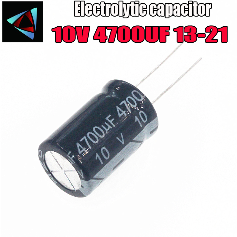3PCS Higt Quality 10V 4700UF 13-21mm 4700UF 10V 13*21 Electrolytic Capacitor