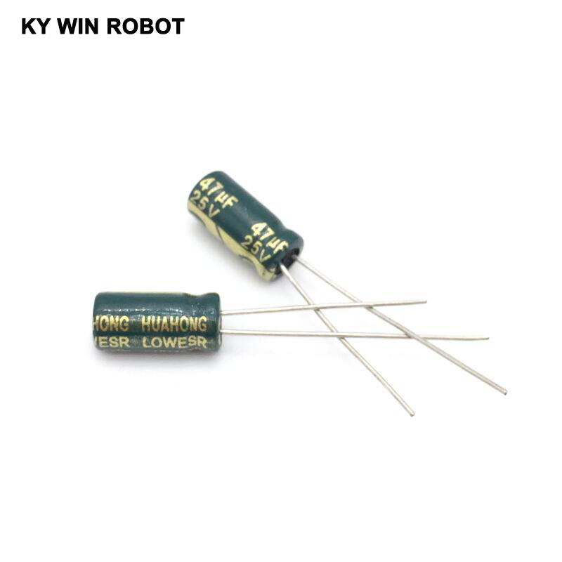 50PCS/LOT 25V 47UF 5*11 High Frequency Low Impedance Aluminum Electrolytic Capacitor 47uf 25v