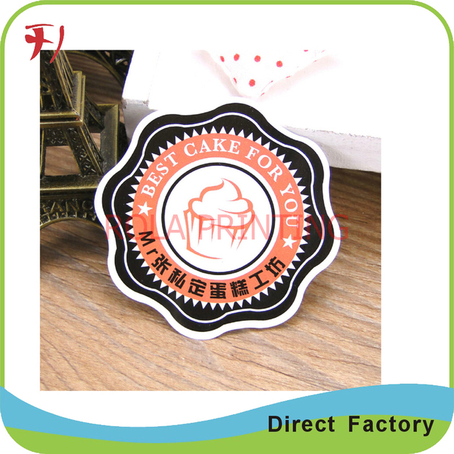 Customized printing adhesive roll paper stickers with high quality and  cheap price