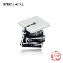 StrollGirl New Authentic 925 Sterling Silver 2017 book bead Fits pandora european Charms Bracelet DIY Jewelry