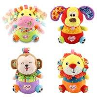 4 stilleri Karikatür Hayvan aslan maymun zürafa köpek tombul oyuncak bebek Peluş Bebek renkli tumbler Dolması peluş oyuncak 40% kapalı