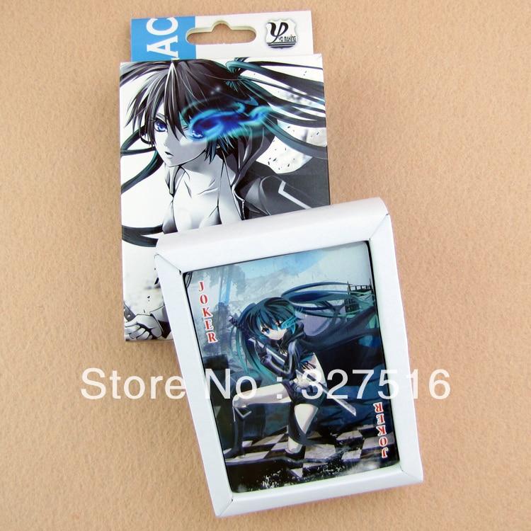 54pcs/set Black Rock Shooter Toys Anime Poker Playing Cards Toys Free Shipping 2