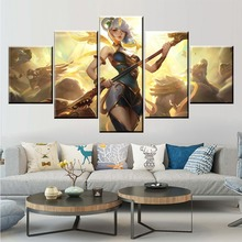 5 Panel LOL League of Legends Lux Game Canvas Printed Painting For Living Room Wall Art Decor HD Picture Artworks Poster