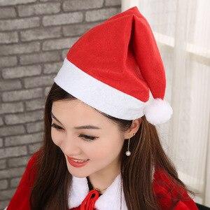 Image 4 - Adornos de Navidad sombreros de Papá Noel niños mujeres hombres niños niñas gorra para fiesta de Navidad accesorios S5010