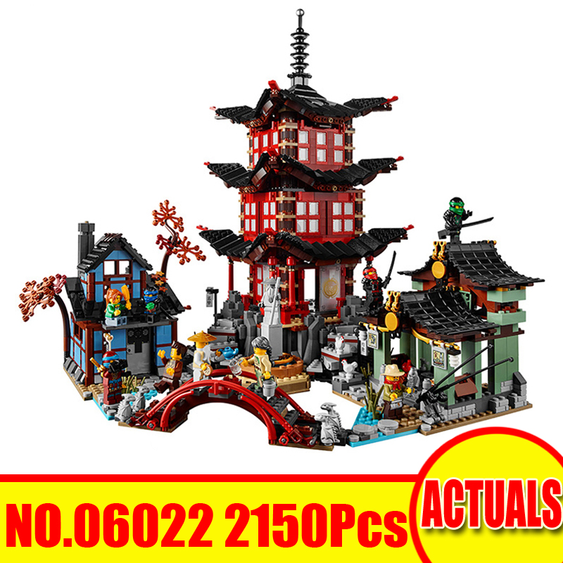 Lepin 06022 2150Pcs Ninjagoed Figure Temple of Airjitzu Kai Jay Cole Compatible 70751 Building Blocks Bricks Set Toy Model Gift синтезатор korg volca bass