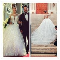 2016 Hot Sale Full Sleeve Bridal Wedding Dresses Gowns Vestido De Noiva Tulle A Line Vestidos