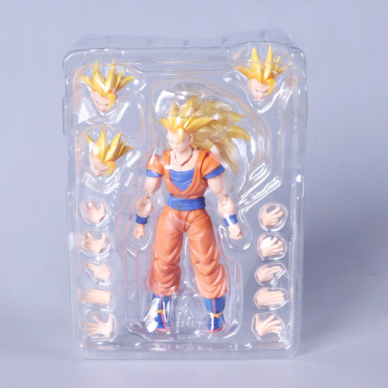 S.H.Figuarts Dragon Ball Z Super Saiyan 3 Son Goku PVC Action Figure Collectible Model Toy with Retail Box