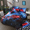 New Amazing 3D Galaxy Bedding Set Twin Queen Size Duvet Cover Set 3 4pcs Polyester Cotton