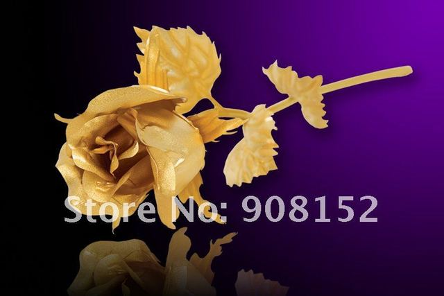 Authentic 24K Gold A Type Close Gold Rose Golden Rose Gift Set with