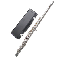 Senmanro 16 hole C plated nickel plated silver flute instrument beginners examination plated closed hole 2019