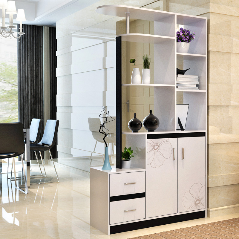 Living Area Cabinet Design: Simple And Stylish Entrance Hall Cabinet Wine Cooler