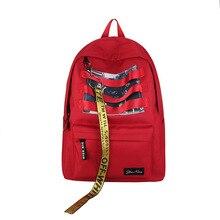 2018 Brand Women Backpack Letter Backpack Nylon School Backpacks For Teenage Girls Casual Large Capacity Shoulder Bag xy-172