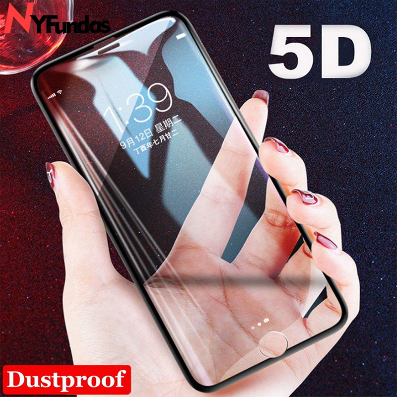 NYFundas For 6D iPhone XS Max Screen Protector Glass Film Tempered Glass 5D For iPhone 7 Plus 8 6 6S X S R XR 9H Screenprotector iPhone XS