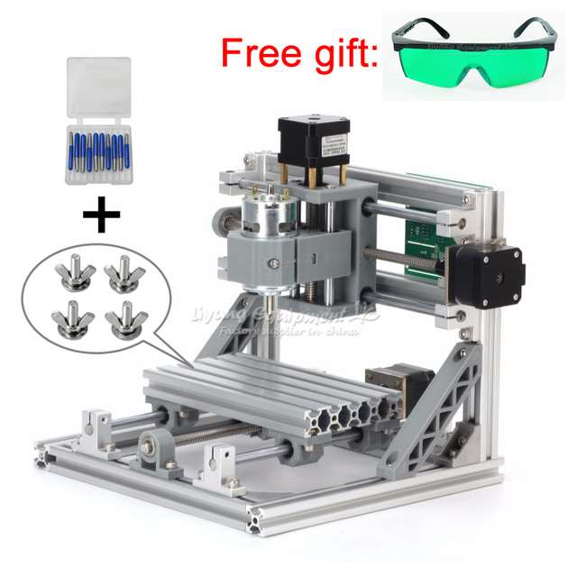 Disassembled pack mini 1610 Pro engraving Pcb Milling Machine Wood Carving machine diy mini cnc router with GRBL control