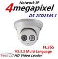 Nova H.265 IP DS-2CD2345-I 4MP Câmera Multi Language Mini CCTV IR Câmera Dome IP Câmera h.265