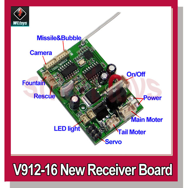 new v912 16 receiver board for wltoys v912 rc helicopter spare partsnew v912 16 receiver board for wltoys v912 rc helicopter spare parts