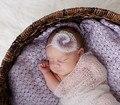 Recém-nascidos envoltório/cobertor do bebê recém-nascido foto prop knit mohair seda envoltório e conjunto cabeça