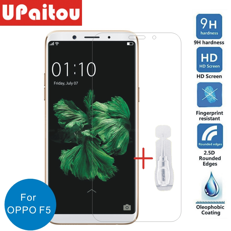 For OPPO F5 Screen Protector Tempered Glass 2.5D 9H Front Safety Protective Film Screen Protector For OPPO F5
