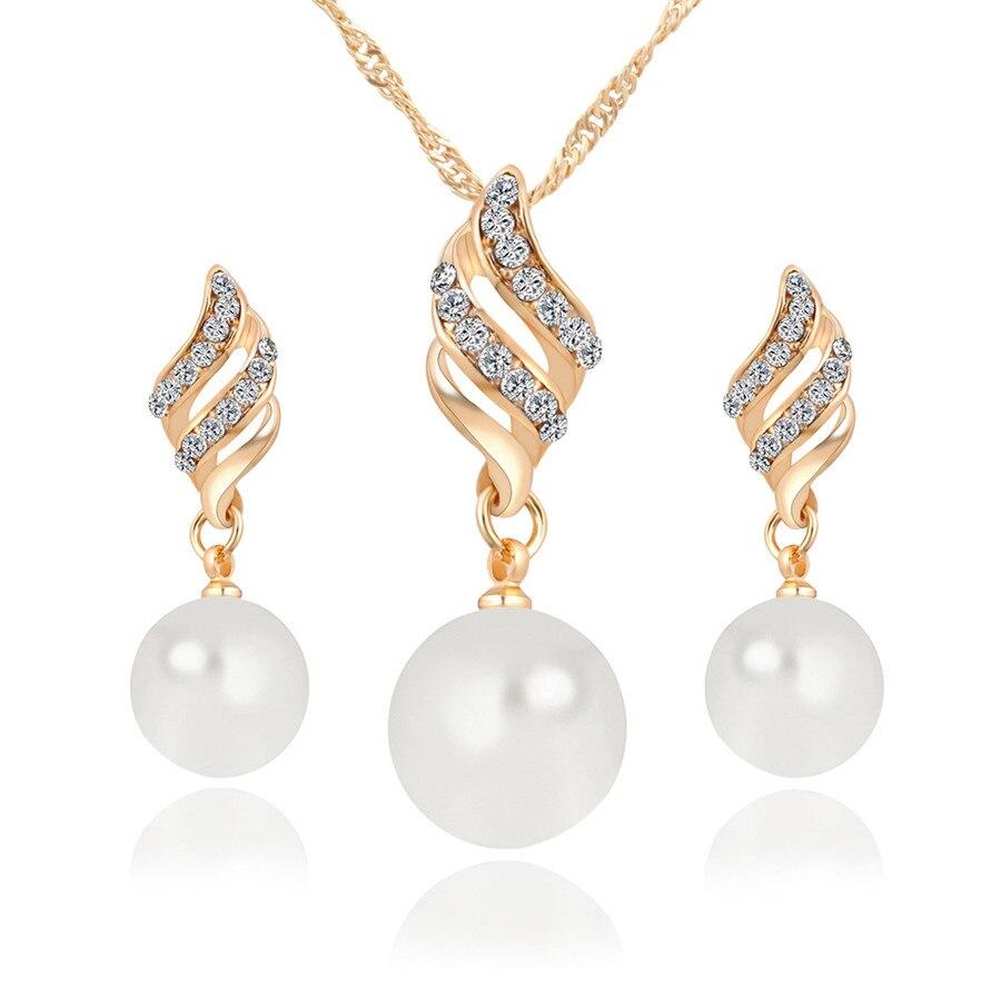 Pearl Jewelry Sets Women...