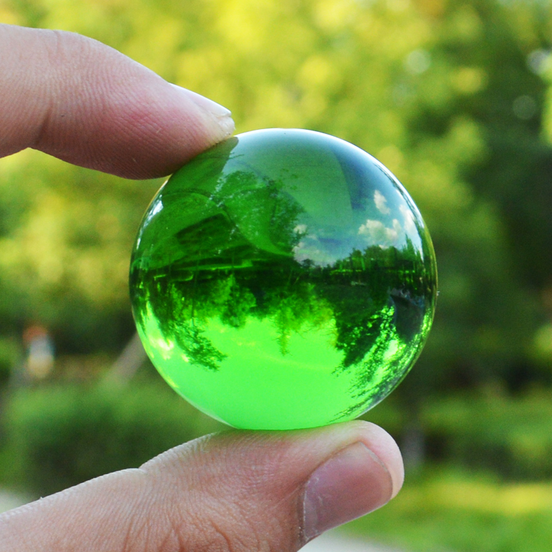 Single Colored Marbles : Jqj green crystal sphere ball paperweights home feng shui