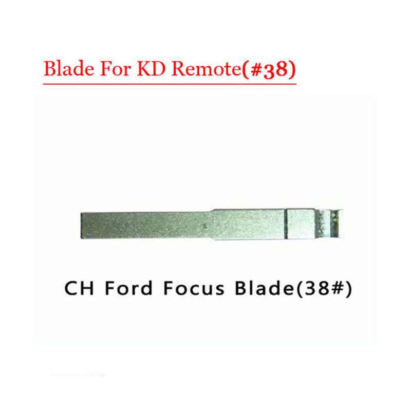 Free shipping (10 pcs/lot)Metal Blank Uncut Flip KD Remote Key Blade Type #38 for Ford Focus free shipping 1piece 2 button remote key mit11 uncut blade with 46 chip 433mhz for mitsubishi