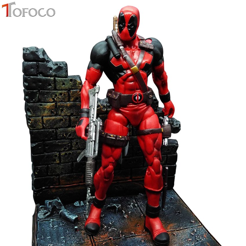 TOFOCO 18CM Super Hero X-Men Deadpool PVC Action Figure Collectible Model Toy neca marvel legends venom pvc action figure collectible model toy 7 18cm kt3137