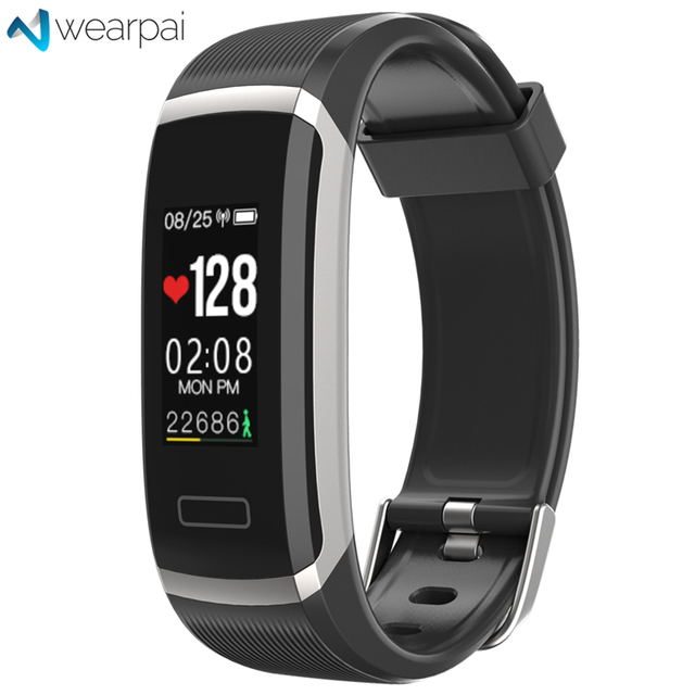 Wearpai GT101 Smart Wristband Continuous Heart Rate Monitor Long Fitness Tracker passometer message/call reminder smart bracelet