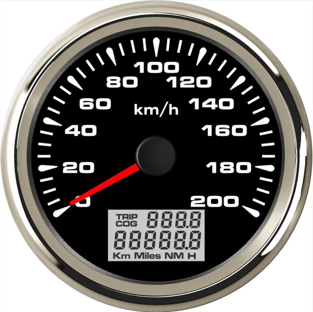 Упаковка из 1 морской 0-200 км/ч/ч gps измеритель скорости тюнинг 85 мм авто ЖК-скорость одометры 9-32В DC Скорость Mileometers Trip Gauge Cog