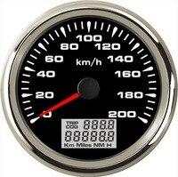 Pack of 1 Marine 0 200km/h GPS Speedometer Gauges Tuning 85mm Auto LCD Speed Odometers 9 32vdc Speed Mileometers Trip Gauge Cog