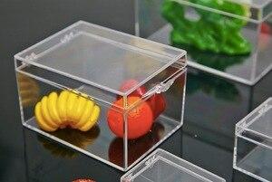 Image 2 - 6.4x4.7x3.7cmPlastic Transparente Rechteckige box probe box Kleine mini aufbewahrungsbox bin