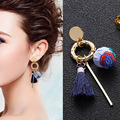 three Type Ethnic Type Embroidery Material Ball Stud Earrings Sample Design Earings For Ladies Couple Present 2018 New Jewellery Oorbellen HTB1hVZBlgoQMeJjy0Foq6AShVXa0