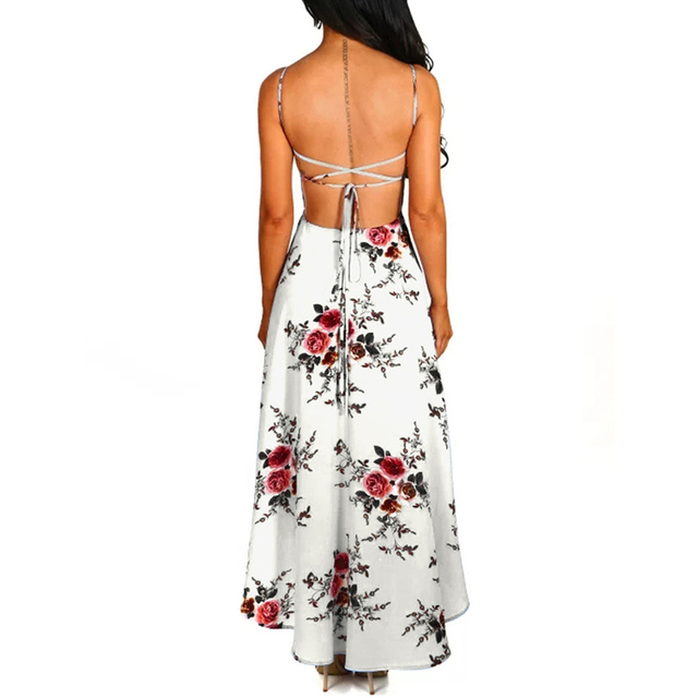 Pink Queen Flower Dress Summer Short Front Long Back Party Dresses Women Casual Sling Sexy Dress Spaghetti Strap Elegant Vestido