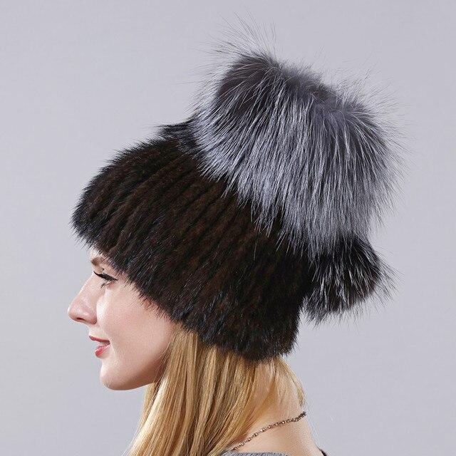 Vendita calda Style Reale Pelliccia di Visone Cappello di Inverno Caldo Cap  Per Le Donne Imported f9b1716ff5ed