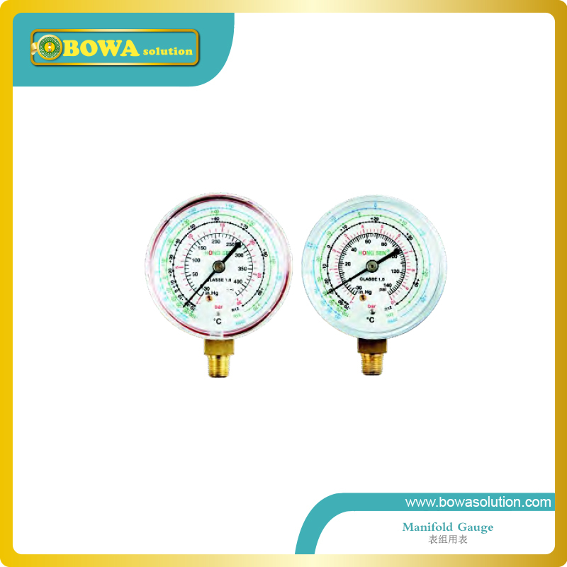 R134a, R404a and R507c refrigeration pressure gauge(Code 1517) including high and Low r134a single refrigeration pressure gauge code 1503 including high and low