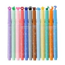 3 шт школьные принадлежности креативный милый красочный кавайный штамп маркер, фломастер