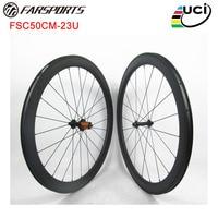 U forma 50mm x 23mm de largura de carbono rodas de bicicleta de estrada com hub ED Shima 11 s  4 graus na pista de freio  um super desempenho carbon road bicycle wheels road bicycle wheels bicycle wheel -