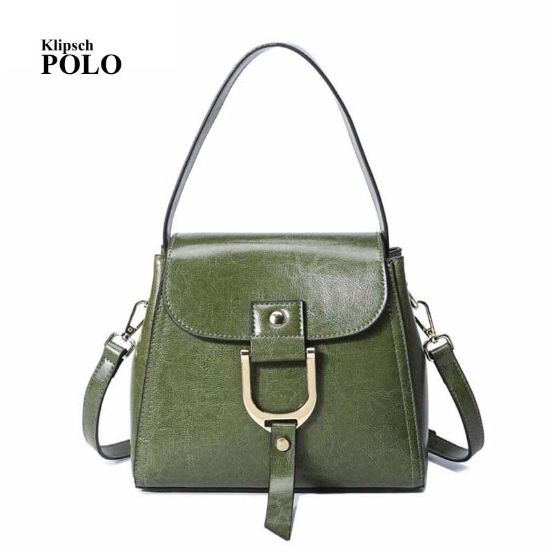 Fashion Ladies' Genuine Leather Women's Handbag Cross Body Messenger Shopping Shoulder Bag Casual Satchel Gray White new trendy men canvas satchel casual cross body handbag messenger shoulder bag