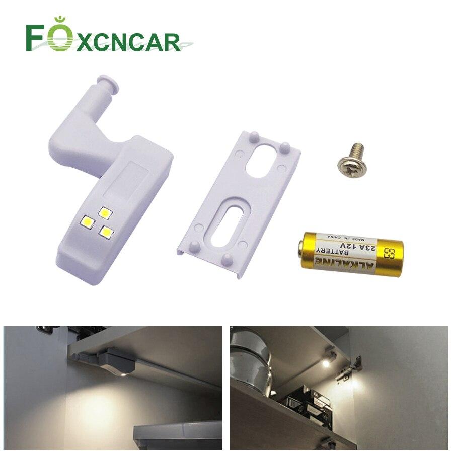 Foxcncar Under Cabinet Light Lumiere LED Light Sensor Wardrobe Lighting For  Kitchen Wireless LED Light With Battery Led Armario