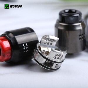 Image 2 - Новейший оригинальный испаритель Wotofo, двойной RDA бак для вейпа, 24 мм, одна и двойная катушка, восстановление, распылитель VS Рекурсивный RDA бак