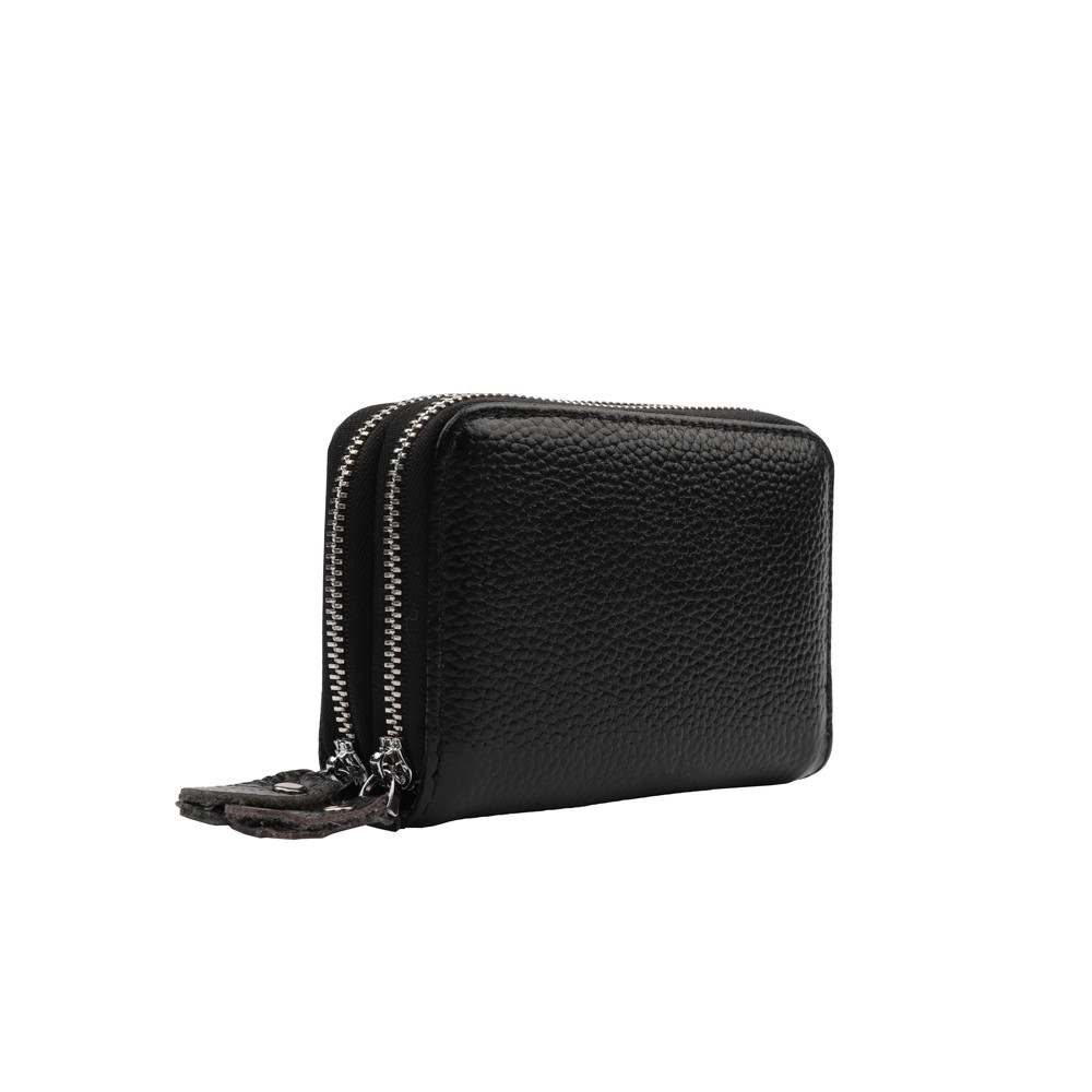 959b84b79f5b Женский кожаный безопасный вместительный милый кошелек на молнии с двойной  застежкой-молнией