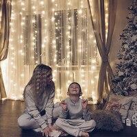 Kmashi Curtain Lights Connectable Led Night Light Led Christmas Lights 3m x 3m 300 LED Indoor Starry Light Xmas Christmas deco