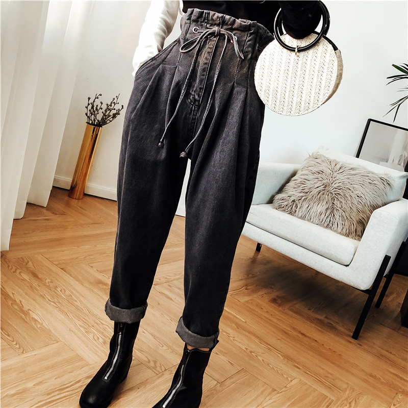 plus size 5XL   Jeans   Harem Pants Women Trousers Casual Loose Fit Vintage Denim Pants High Waist   Jeans   Women