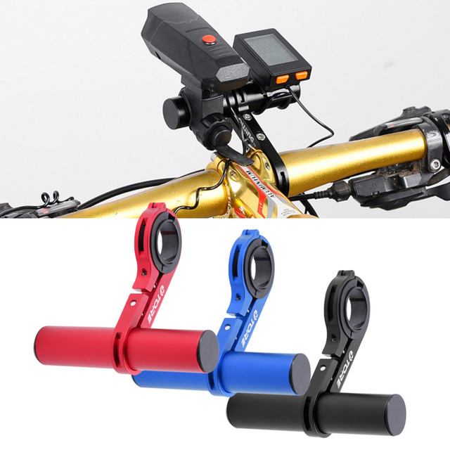 Aluminum Alloy Bike Handlebar Extension Bicycle Mount Extender Holder for Light Lamp Bike Stopwatch Bracket 31.8/25.4mm