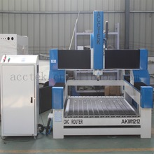 3.0kw spindle CNC milling machine, foam rubber mould engraving cnc router AKM1212